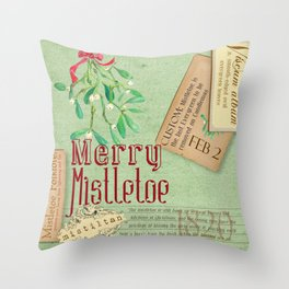 Merry Mistletoe Throw Pillow