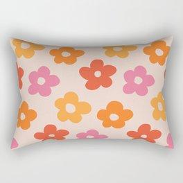 Retro 60s 70s Flowers Pattern #pattern #vintage Rectangular Pillow