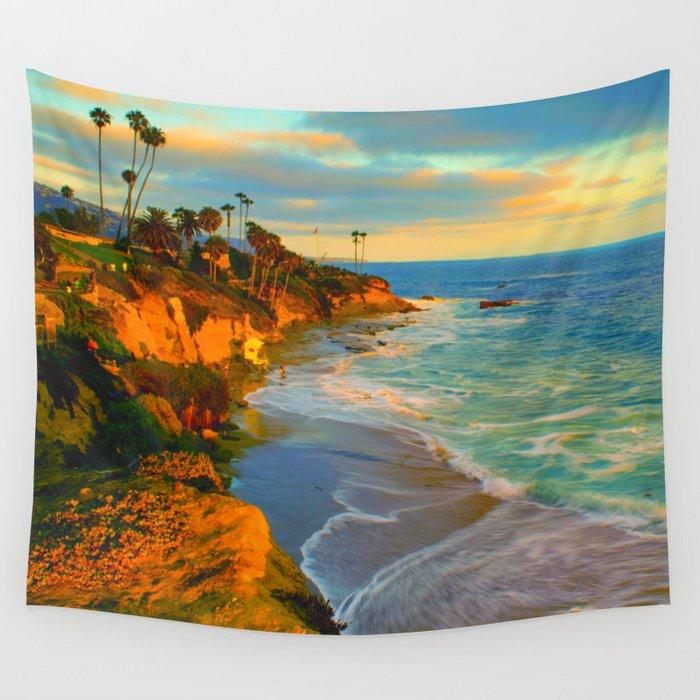 laguna-beach-california-wall-tapestry by society6