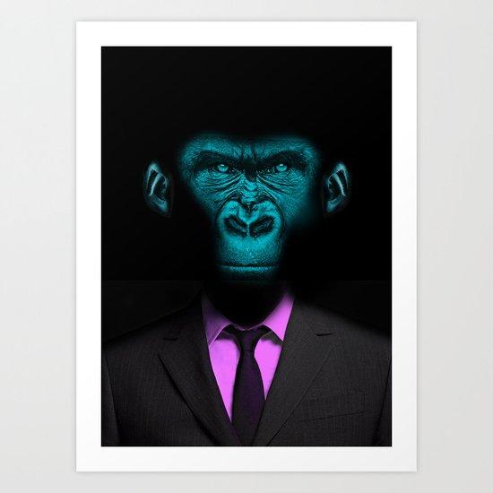 Monkey Suit Art Print