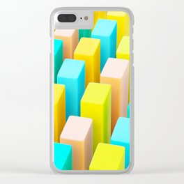 Color Blocking Pastels Clear iPhone Case