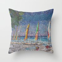cuba Throw Pillows featuring Cuba by Juliana Kroscen