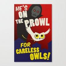 Careless Owls Canvas Print