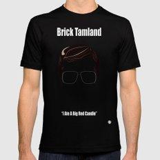 Brick Tamland: Weather MEDIUM Black Mens Fitted Tee