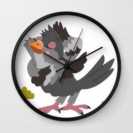 Pretty Pigeon Wall Clock