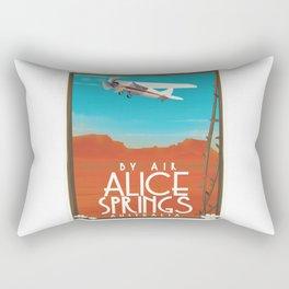 By Air - Alice Springs Australia travel poster Rectangular Pillow