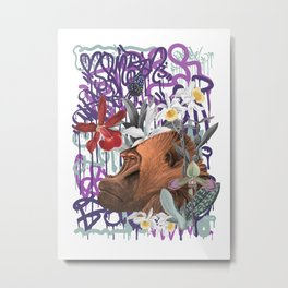 Graffiti Gorilla Jungle Monkey Metal Print