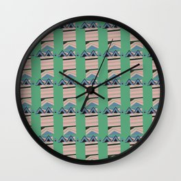 Triangle Abstract ZigZag Pattern Wall Clock