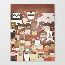 The Nick Yorkers family portrait  Canvas Print
