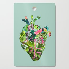 Botanical Heart Mint Cutting Board