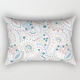 Colorful pattern of pastel light colors with beads Rectangular Pillow