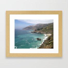 Big Sur Cali waters Framed Art Print