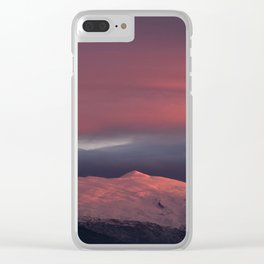 Lenticular clouds over Caballo mountain. Sierra Nevada National Park Clear iPhone Case
