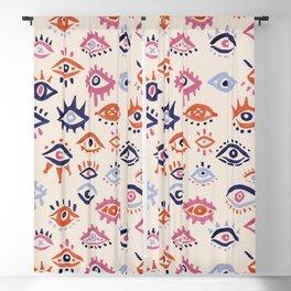 Mystic Eyes – Coral & Navy Blackout Curtain