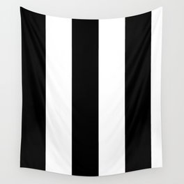 5th Avenue Stripe No. 2 in Black and White Onyx Wall Tapestry