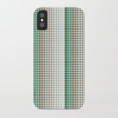 Dots Modern Geometric Green Minimalistic Pattern Slim Case iPhone X