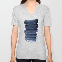 Just Indigo 3 | Minimalist Watercolor Abstract Unisex V-Neck