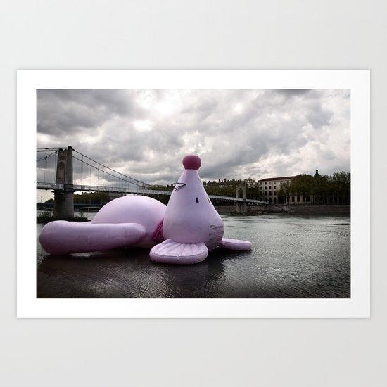 + Pink mouse, Lyon (FRA) Art Print