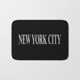 New York City (type in type on black) Bath Mat