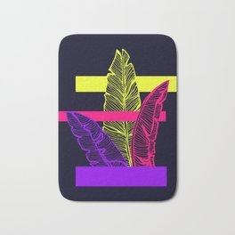 Neon Leaves #society6 #tropical Bath Mat