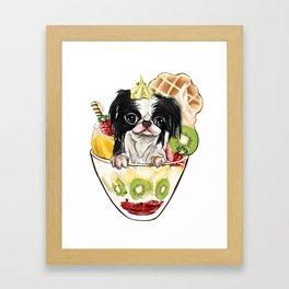 Japanese Chin sundae Framed Art Print