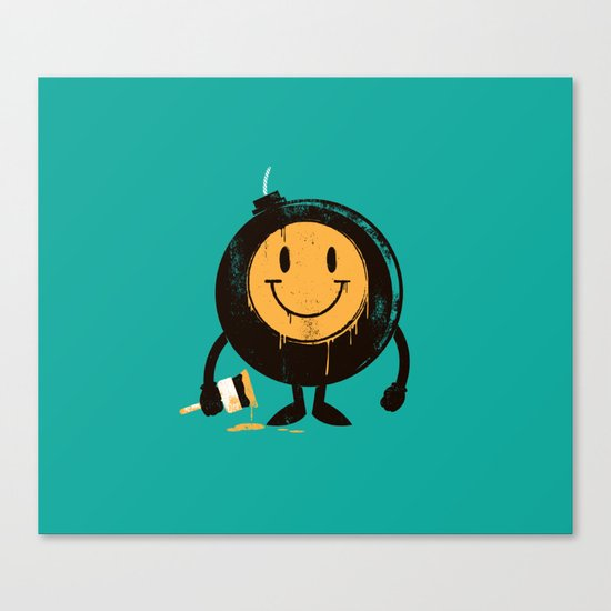 Happy buddy Canvas Print