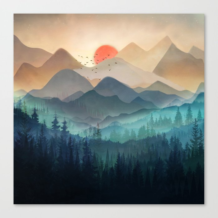 Wilderness Becomes Alive at Night Canvas Print