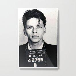 Frank Sinatra Mug Shot Vertical Metal Print