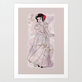 The White Sayuri Art Print