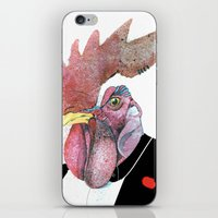 cock iPhone & iPod Skins featuring James Cock by nicoserrano