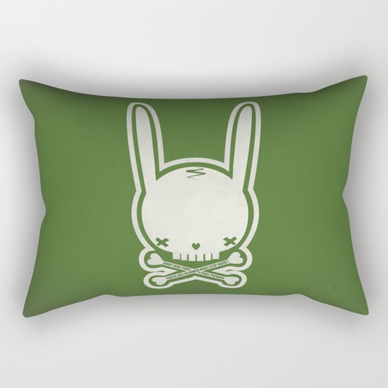SKULL BUNNY of PIRATE - EP02 MOSS V. Rectangular Pillow