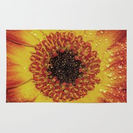 Red and Yellow Flower Rug