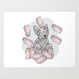 God of milk Art Print