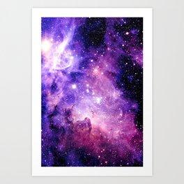 Galaxy Nebula Purple Pink : Carina Nebula Art Print