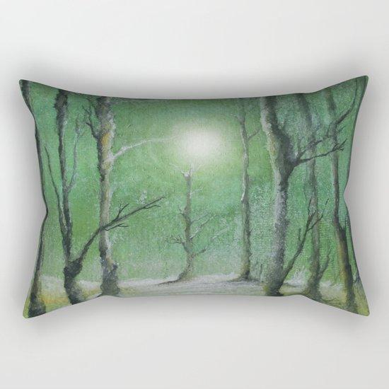 Track 5: Green winter Rectangular Pillow