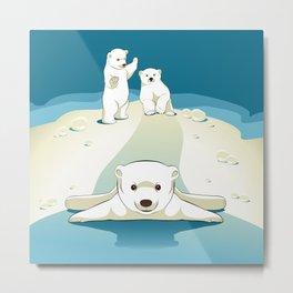 Polar bear cubs Metal Print