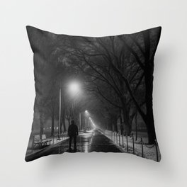 Solitude in the snow Throw Pillow