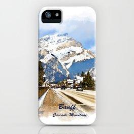 Cascade Mountain - Banff  Alberta Canada iPhone Case