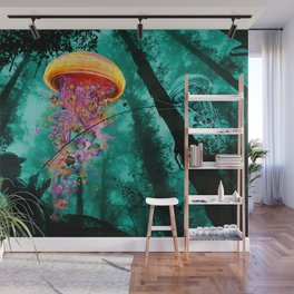 Jellyfishing in Color Wall Mural