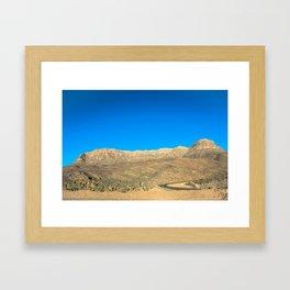 Arizona, árida y arenosa Framed Art Print