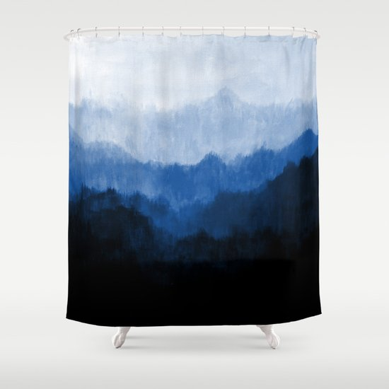 Mists - Blue Shower Curtain