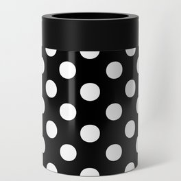 Polka Dots (White/Black) Can Cooler