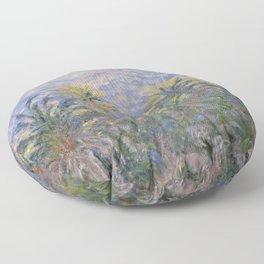 Palm Trees at Bordighera Floor Pillow