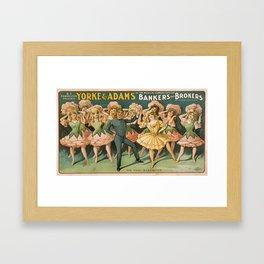 Vintage poster - Bankers and Brokers Framed Art Print
