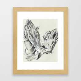 Dürer Hands Framed Art Print