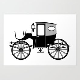 Old Style Carriage Art Print