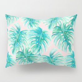 Paradise Palms Blush Pillow Sham