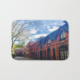 STOP For Brooklyn Heights Brownstone Red Brick Love Bath Mat