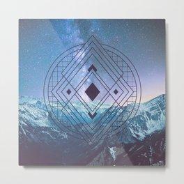 Sacred Geometry Universe 7 Metal Print