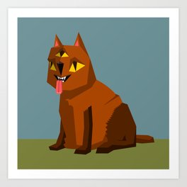 Three eyed cat creature Art Print